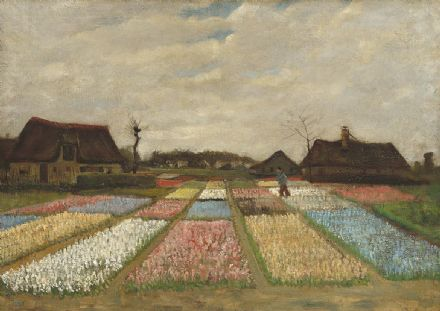Van Gogh, Vincent: Flower Beds in Holland. Fine Art Print/Poster. Sizes: A4/A3/A2/A1 (003558)